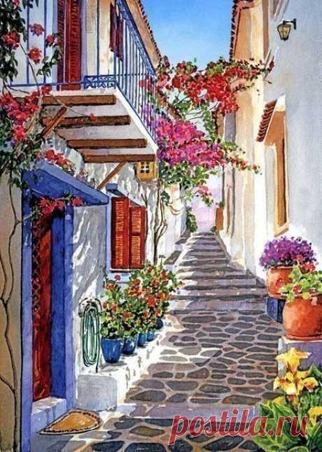 Прекрасные городские пейзажи от художника Pantelis D. Zografos