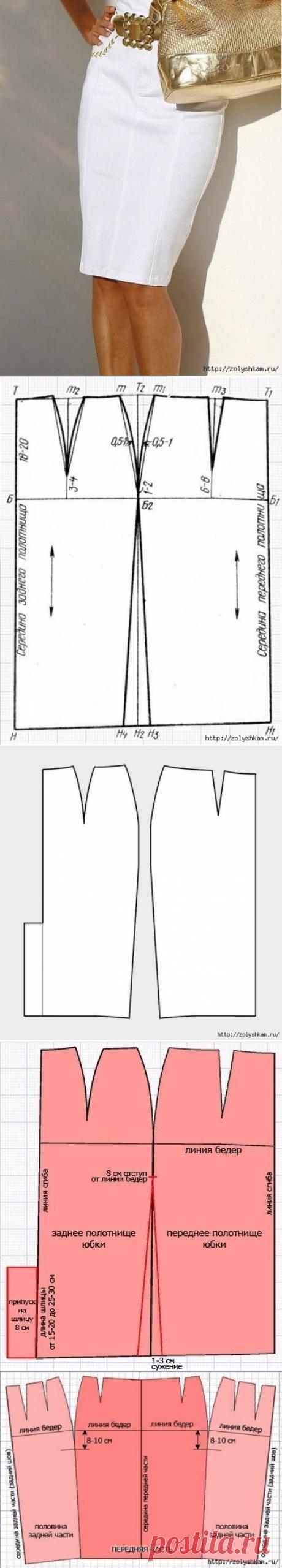 Юбка-карандаш без боковых швов