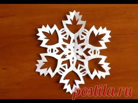 how to make a snowflake of video paper