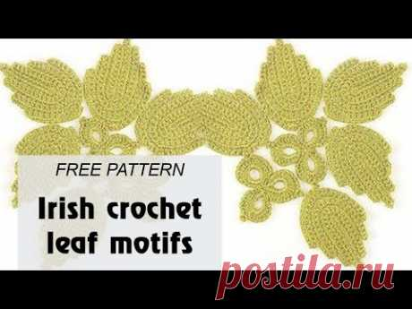 Irish crochet leaf motifs - Free crochet pattern