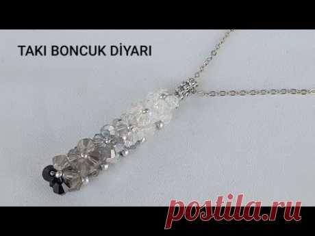 KRİSTAL BONCUKTAN ZARİF KOLYE YAPIMI / ELEGANT NECKLACE MADE FROM CRYSTAL BEADS