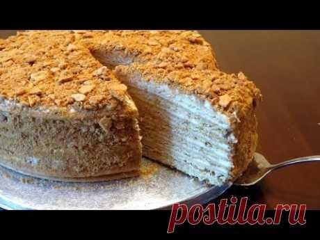 Классический, домашний рецепт медового торта «Рыжик»