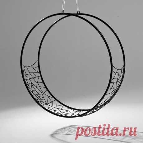 Купить подвесное круглое кресло из металла в стиле ЛОФТ