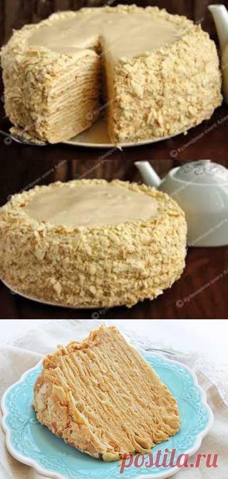 Торт «Наполеон» с необычайно вкусным кремом