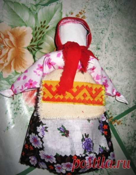 """Русская народная кукла """"Столбушка"""" своими руками из ткани"""