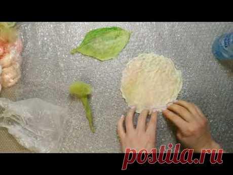 """Мастер-класс """"Тюльпаны в технике мокрого валяния"""" - YouTube"""