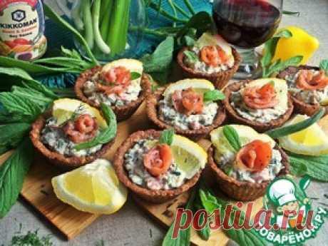 Хлебные корзиночки с сырно-рыбной начинкой - кулинарный рецепт