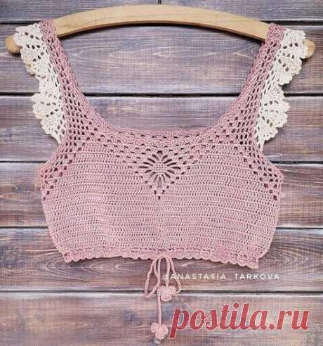 Кроп топ крючком - летние идеи и схемы | Anna Gri Crochet | Яндекс Дзен