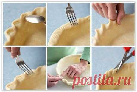 Несколько простых способов оформления края пирога