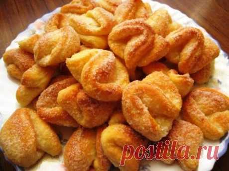 Как приготовить слоёное творожно-сметанное печенье на XCOFFEE.RU