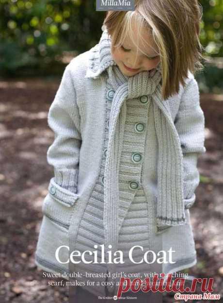 Вязание: пальто для девочек.