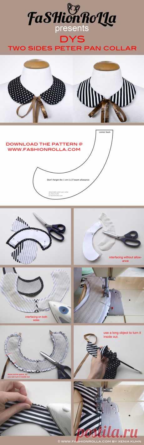 [DIY] Two sides peter pan collar   FashionRolla: [DIY] Two sides peter pan collar