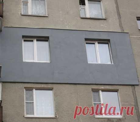 Утепление стен снаружи панельных и кирпичных домов   Альпром