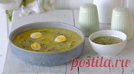 Холодный суп из щавеля с перепелиными яйцами - Образованная Сова