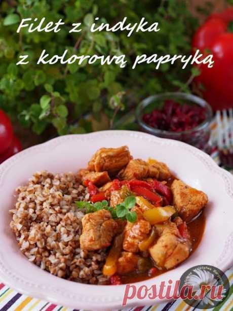Kulinarne Szaleństwa Margarytki: Filet z indyka z kolorową papryką