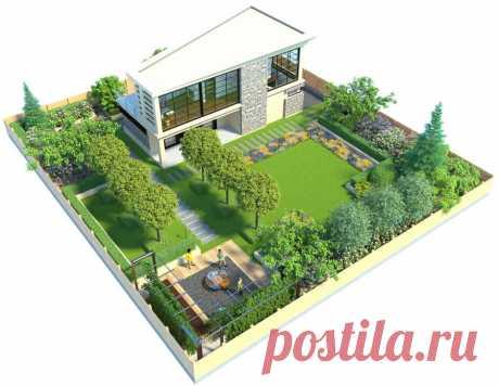 Участок на 4 сотки: планировка и фото удачных примеров дизайна садового участка