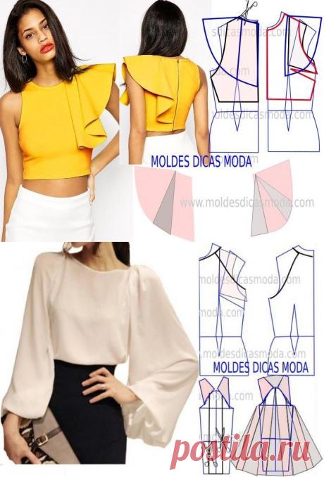 Моделирование красивых и оригинальных блузок — Сделай сам, идеи для творчества - DIY Ideas