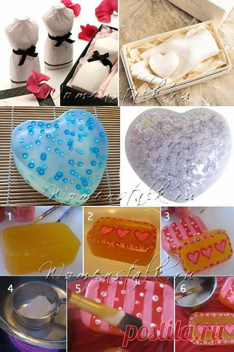 Домашнее мыло на День Святого Валентина – 9 ИДЕЙ и 1 мастер-класс.