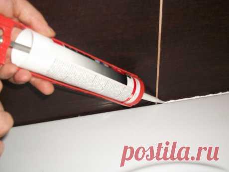 Использование герметика в ванной   Роскошь и уют