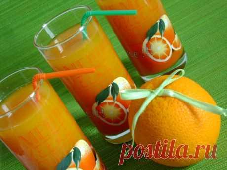 Тыквенно-апельсиновый сок.