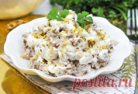 Салат мясной с говядиной и грецким орехом — Сад Заготовки