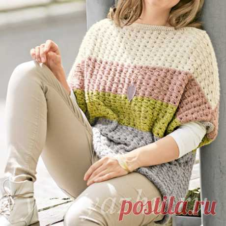 Пулундер - женский джемпер спицами с короткими рукавами | Вязальное настроение...