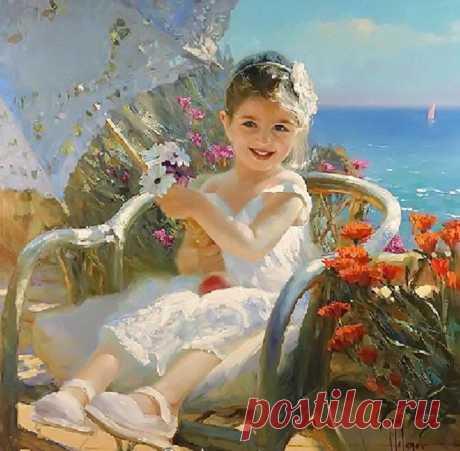 La pintura solar del romántico Vladímir Volegova: la Clase maestra de un gran pintor