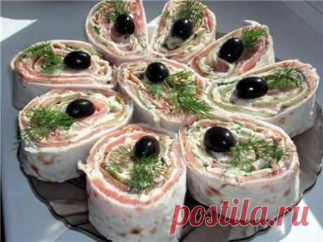 Закуска из лаваша - 13 видов начинки » Жрать.ру