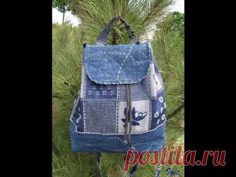 Удобные и красивые рюкзаки своими руками из джинсов