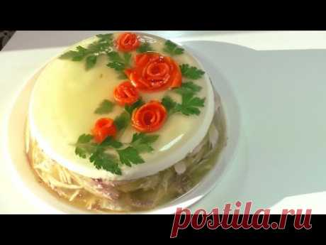 Jelly. How to make chicken aspic. Step-by-step recipe.
