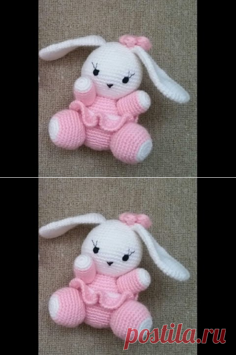 (1) (Amigurumi ) Örgü Oyuncak Sevimli Tavşan Yapımı 1 (Crochet Amigurumi Cute Rabbit 1) - YouTube