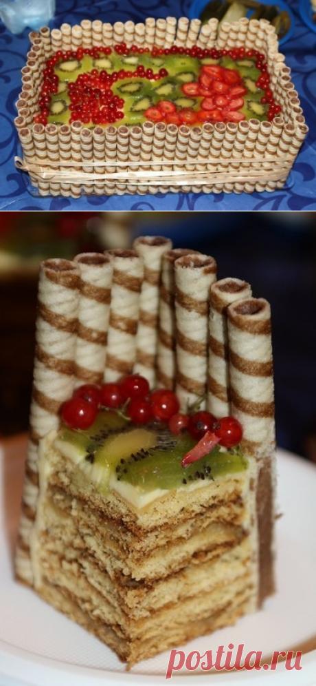 Как приготовить торт «фруктовая корзина» - рецепт, ингридиенты и фотографии