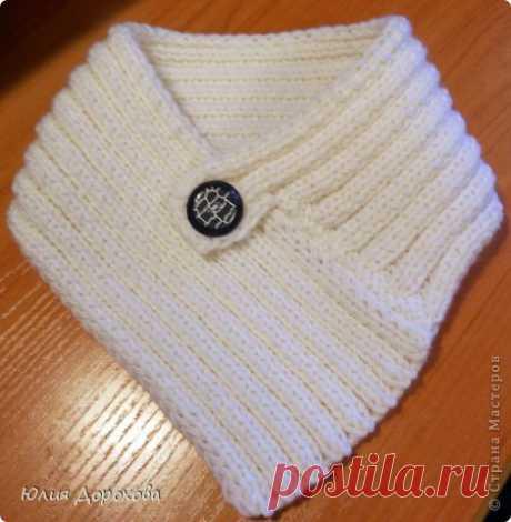 Вязание - Комплект спицами повязка на голову и манишка