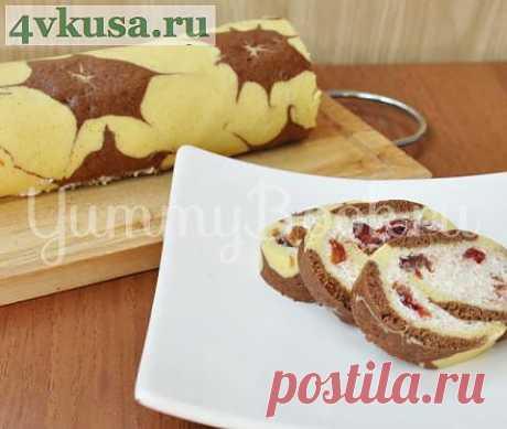 Рулет с творожной начинкой | 4vkusa.ru