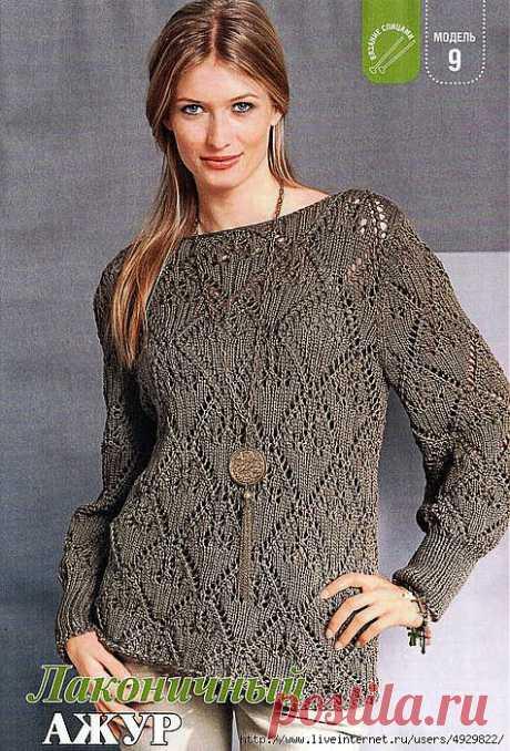 Ажурный пуловер | САМОБРАНОЧКА - сайт для рукодельниц, мастериц