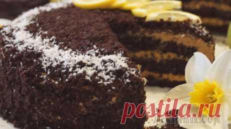 Шоколадный торт на Кипятке с карамельным кремом. Супер Вкусный Шоколадный торт! Шоколадный торт на кипятке с карамельным кремом. Его насыщенный шоколадный вкус никого не оставит равнодушным. Бисквит нежный, не требует дополнительной пропитки. Готовиться совсем просто.ИНГРЕДИЕНТЫТ...