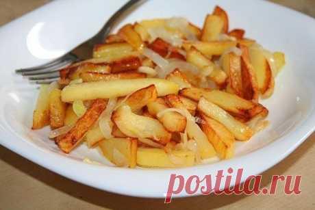 Шустрый повар.: Несколько правил того, чтобы ваша жареная картошка получилась вкусной и красивой.