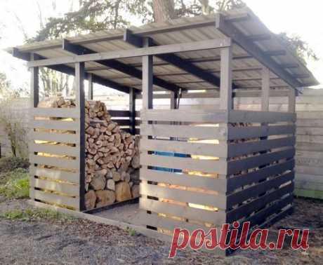 5 распространенных ошибок в постройке дровяника на даче Дровяник – это сооружение для хранения дров. Обычно располагается под открытым небом и имеет навес и ограждающие конструкции.