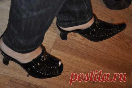Переделка остроносной обуви . Милая Я