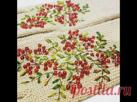 Вышивка на перчатках - Embroidered gloves