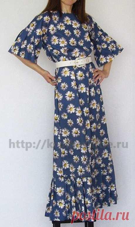 Очень простое платье расклешенное