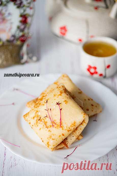 Блинчики с творогом, медом и грецкими орехами | Простые кулинарные рецепты с фотографиями