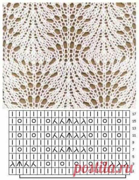 Ажурные узоры спицами. Схемы. / knittingideas.ru