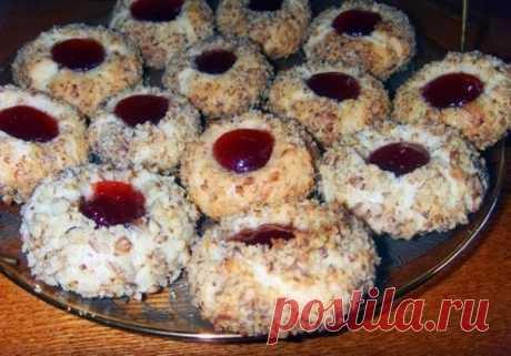 Как приготовить домашнее ванильное печенье с джемом - рецепт, ингредиенты и фотографии