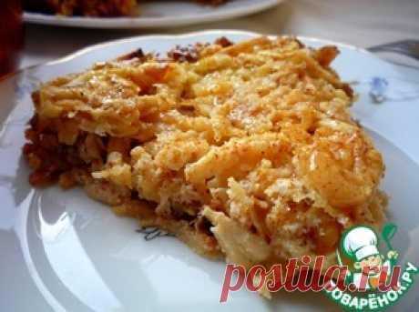 """Яблочный пирог """"7 злаков"""" - кулинарный рецепт"""