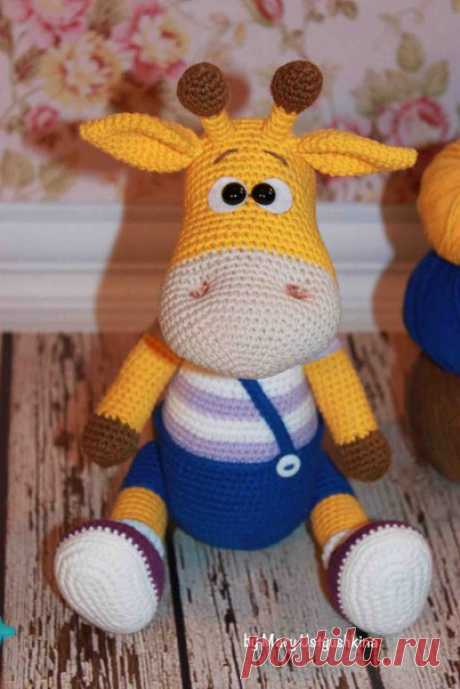 Жираф Ральф крючком: игрушка амигуруми   AmiguRoom