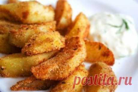 Обожаемый всеми хрустящий запеченный картофель    Попробуйте — не пожалеете!          Ингредиенты: Картофель — 1 кгРастительное масло — 2 ст.л.Панировочные сухари — 2 ст.л.Сладкая паприка — 1 ч.л.Тмин — 1 ч.л.щепотка черного и кайенского перцаТимь…