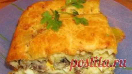 Пирог с рыбными консервами | Калейдоскоп