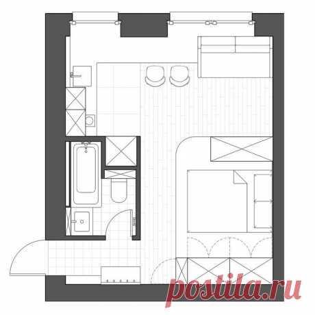 Квартира-малютка на 24 м², которая ошеломляет своим ярким внешним видом. Хозяева очень смелые, раз выбрали такой дизайн. | DESIGNER | Яндекс Дзен
