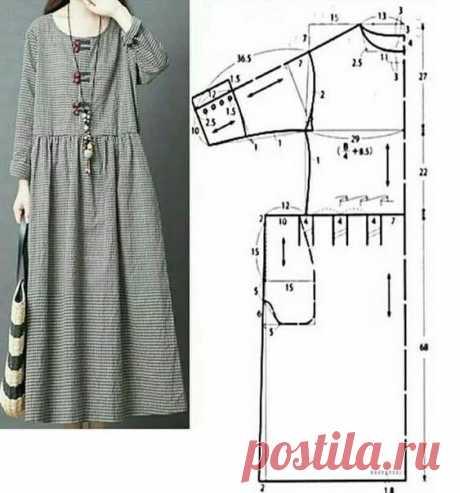 Широк платье в стиле бохо выкройка.
